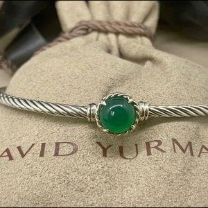 David Yurman Chatelaine Bracelet in Green Onyx